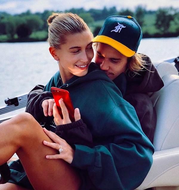 O cantor Justin Bieber e a modelo Hailey Baldwin (Foto: Instagram)