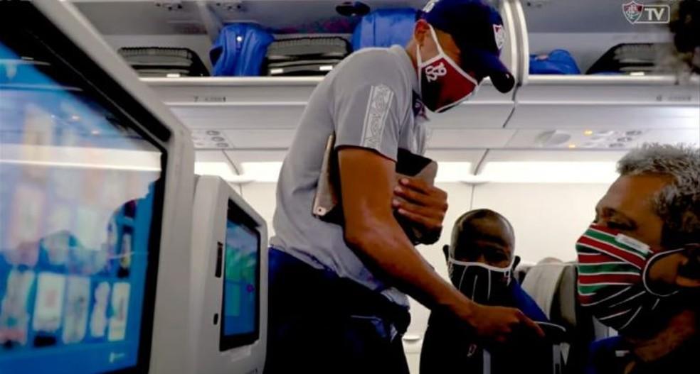 Fluminense terá avião exclusivo para voltar ao Rio após cinco dias fora — Foto: Reprodução / FluTV
