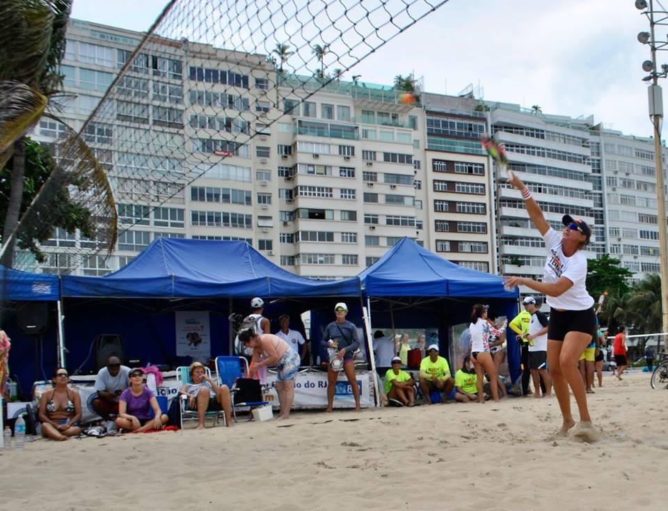 Claudia Joppert em ação em Copacabana