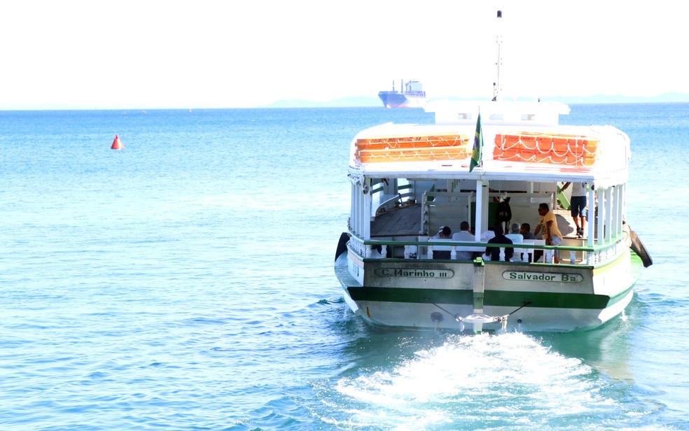 Lancha da travessia Salvador-Mar Grande â?? Foto: Bruno Concha/Secom PMS