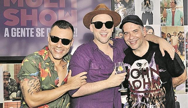 Rodrigo Sant'Anna, Paulo Gustavo e Leandro Hassum (Foto: Juliana Coutinho)