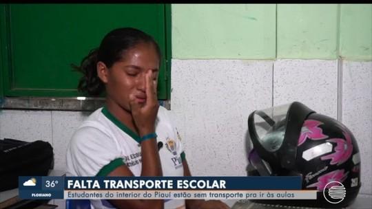 Estudantes da rede estadual de 50 municípios do Piauí estão sem transporte escolar