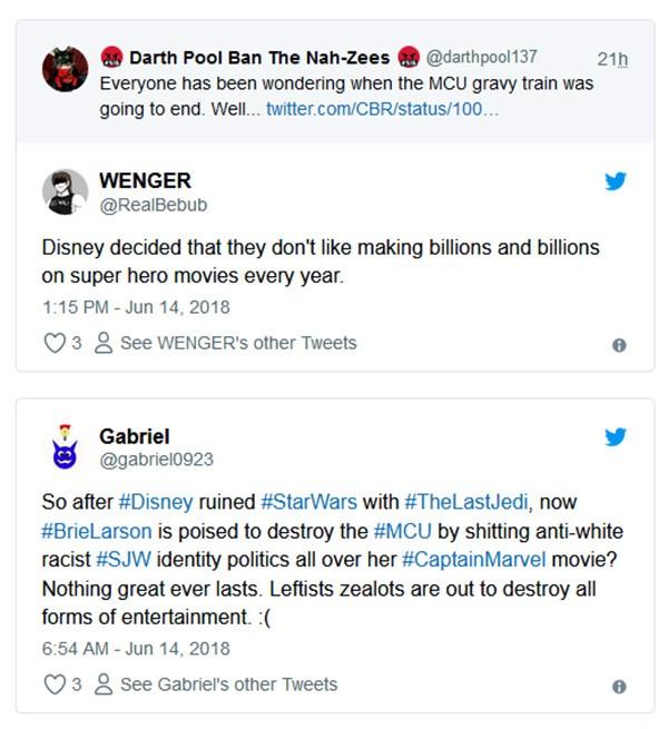 Comentários sobre o filme Capitã Marvel (Foto: Twitter)