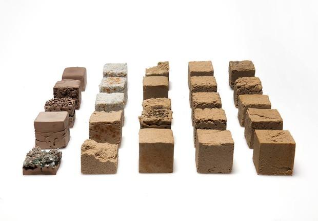 Finite, material que utiliza areia do deserto para ser aplicado na construção (Foto: Divulgação)