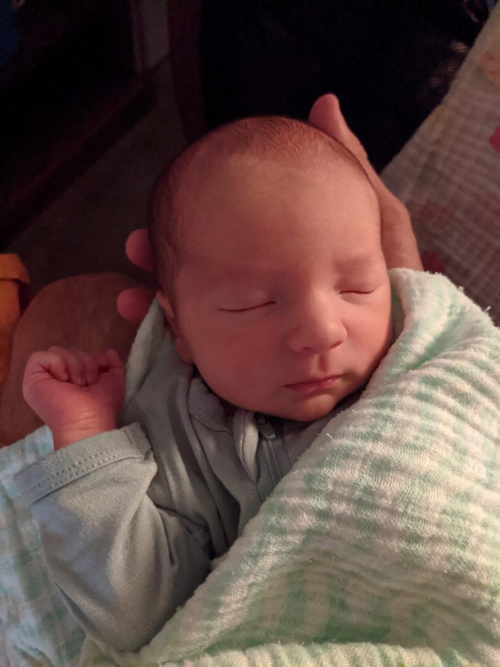 Filho de Carlos Machado nasceu dia 30 de julho — Foto: Divulgação