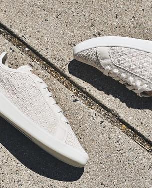 Tênis feito de algodão, milho e mamona