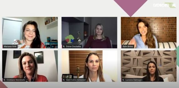 Live sobre gestão feminina e sustentabilidade realizada na última quinta-feira (6/11) (Foto: Reprodução/Youtube)