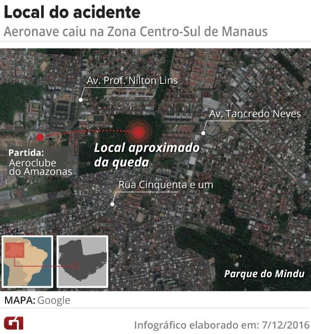 Acidente área em Manaus (Foto: G1 AM)