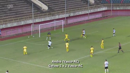 André, do Vasco-AC, é o vencedor do gol mais bonito do 2º turno do Acreano