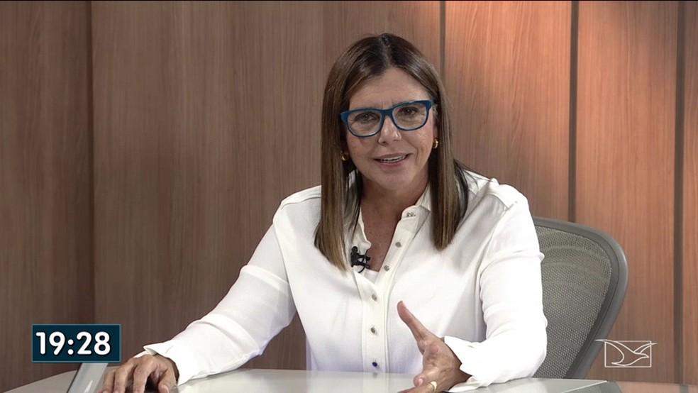 Roseana Sarney (MDB) foi a entrevistada desta quinta (13) do JMTV 1ª edição — Foto: Reprodução/TV Mirante