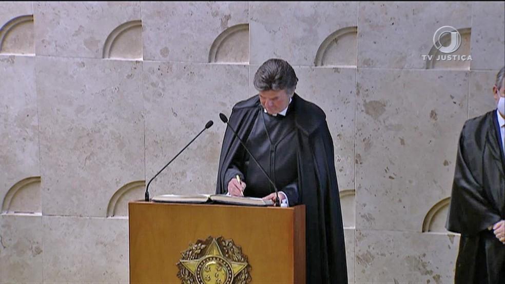 Fux toma posse como presidente do STF — Foto: Reprodução/TV Justiça