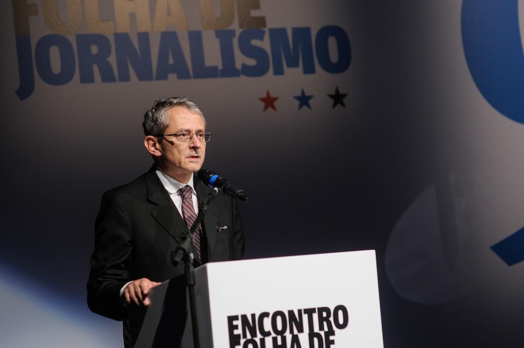 Otavio Frias Filho no Encontro Folha de Jornalismo em 2016 (Foto: CEDOC)