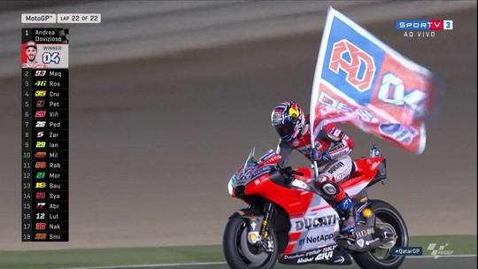 Com ultrapassagem a cinco voltas do fim, Dovizioso vence abertura da temporada