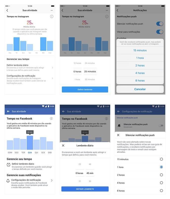 Sim, Facebook e Instagram vão mostrar o tempo que você passa navegando neles (Foto: Divulgação)