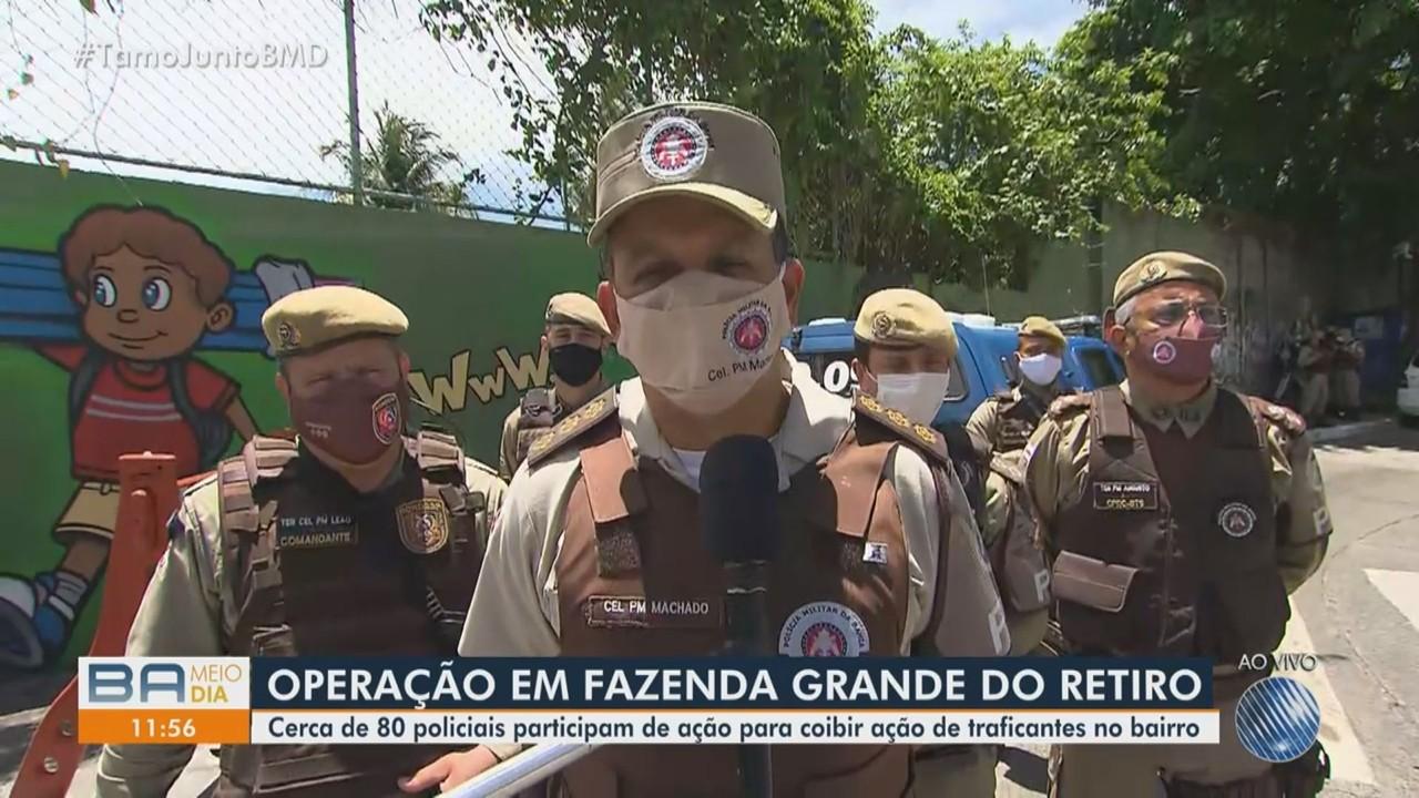 Operação de reforço de policiamento é deflagrada em Fazenda Grande do Retiro, em Salvador