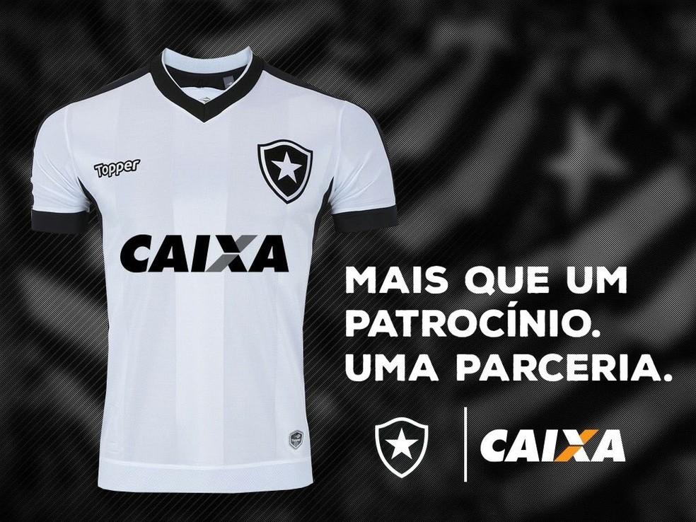Botafogo perdeu patrocínio master da Caixa  — Foto: Divulgação