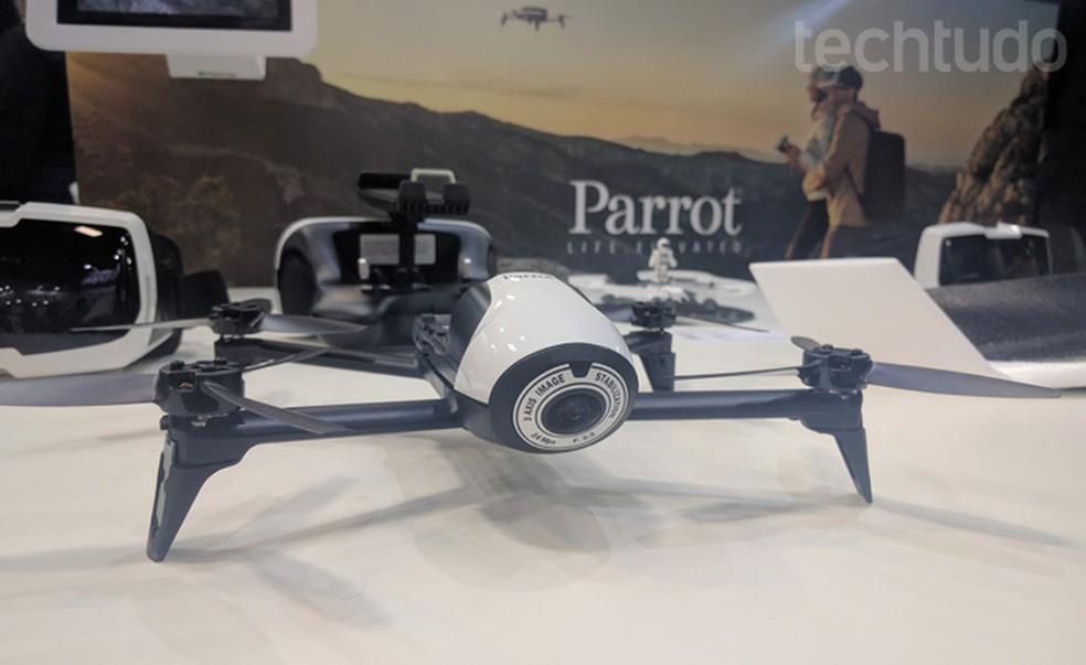Drone Bebop 2, da Parrot, no estande da Geonav (Foto: Melissa Cruz Cossetti / TechTudo)