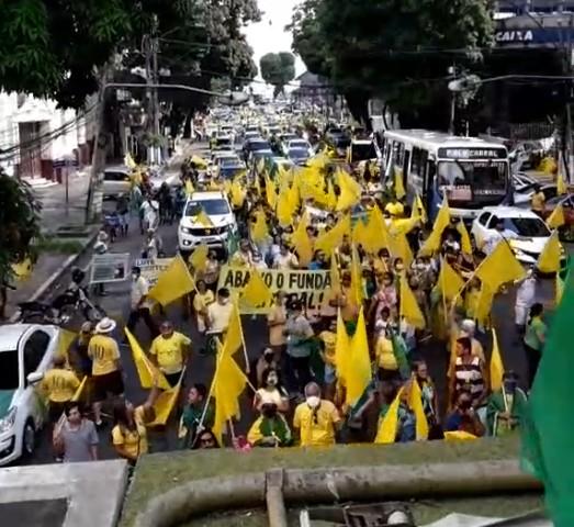 Em Belém, ato de apoiadores de Bolsonaro pede voto impresso