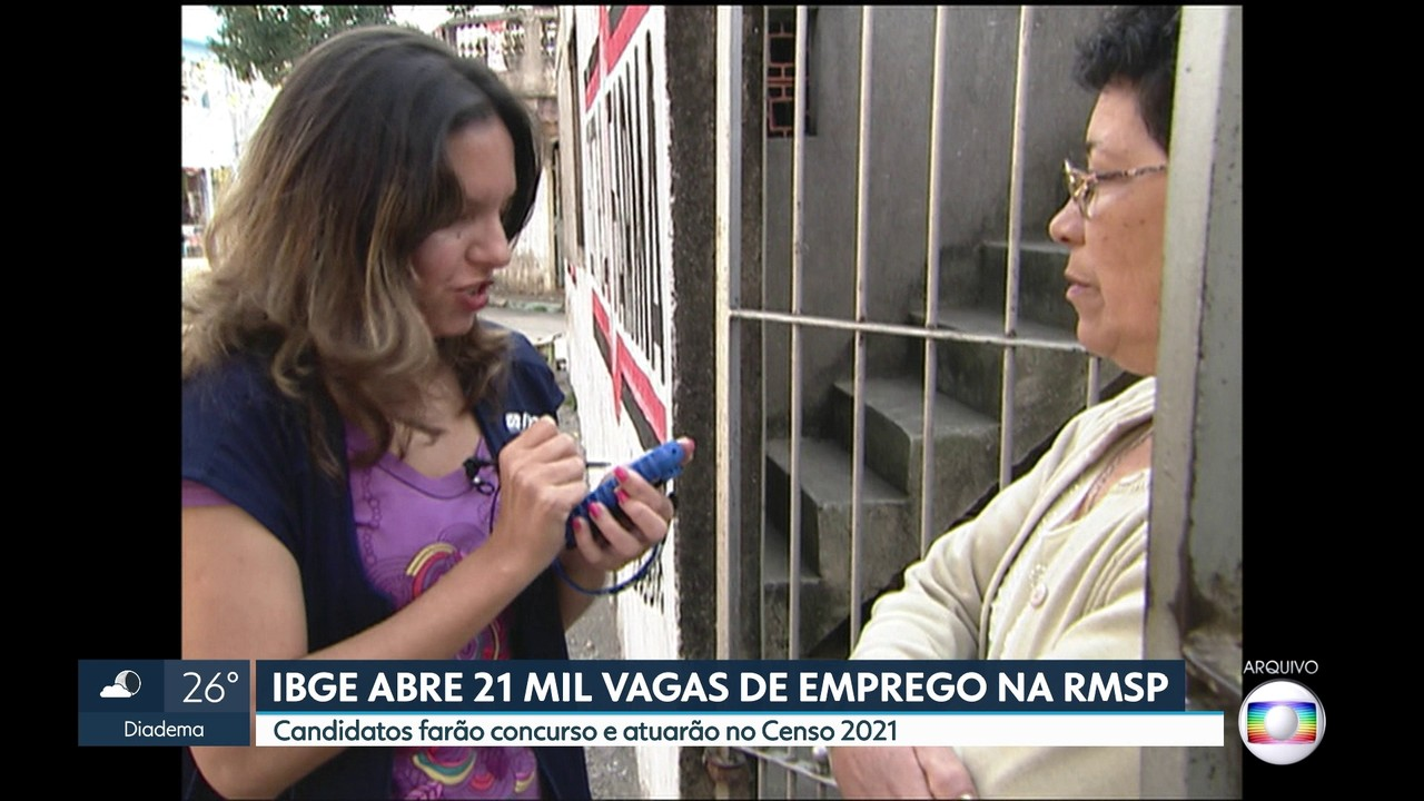 IBGE abre 21 mil vagas de emprego na Região Metropolitana