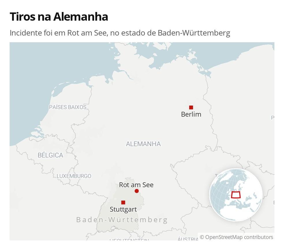 Incidente foi em Rot am See, no estado de Baden-Württemberg — Foto: G1