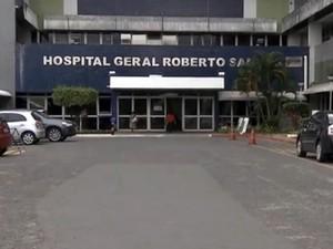 Feridos foram levados para o Hospital Geral Roberto Santos (Foto: Reprodução/TV Bahia)