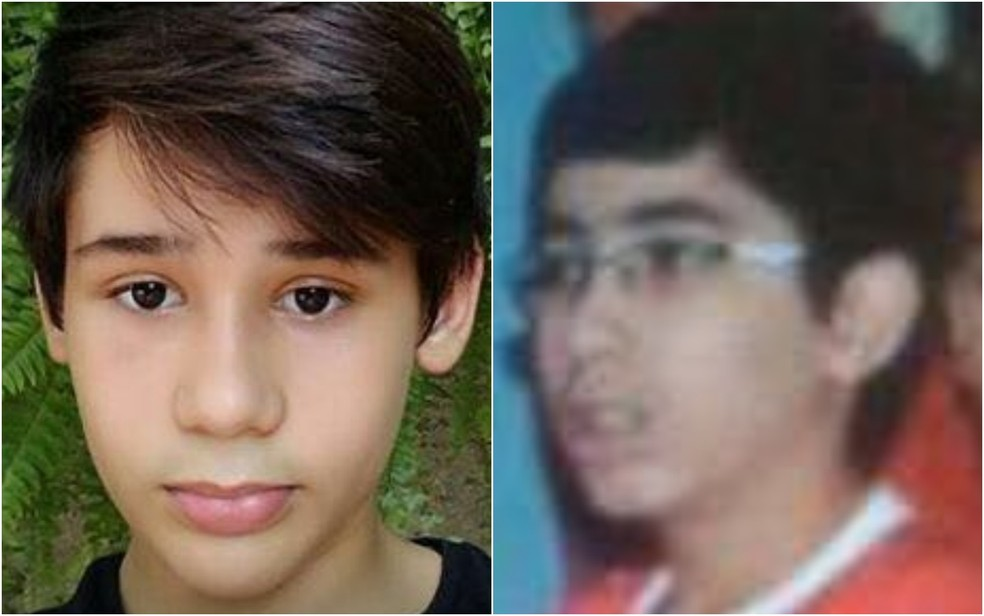 João Pedro Calembo (à esquerda) e João Vitor Gomes morreram na escola (Foto: Reprodução/ TV Anhanguera)