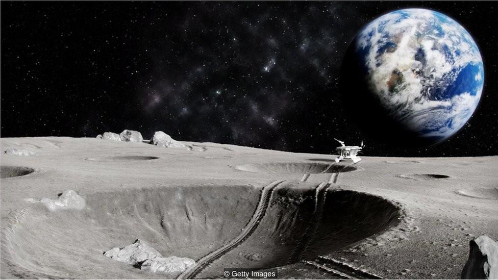 Nações podem explorar a Lua, mas nenhuma delas pode reivindicar sua posse (Foto: Getty Images via BBC)