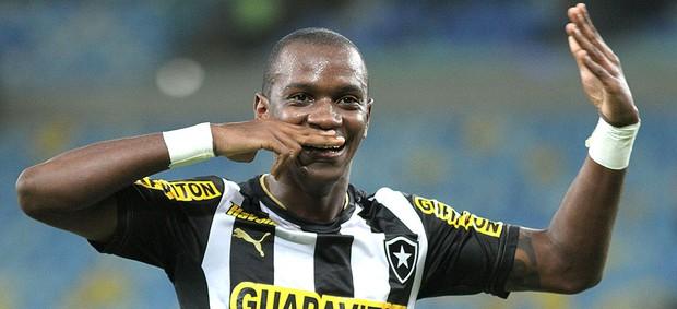 Hyuri comemora gol do Botafogo (Foto: Vitor Silva / SSPress)