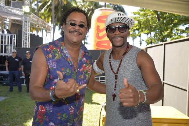 Compadre Washington e Beto Jamaica (Foto: Davi Magalhães/Divulgação)