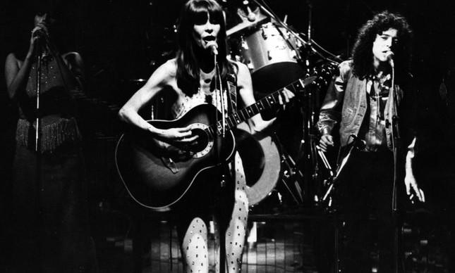 Rita Lee durante o show 'Cães & Gatos', em 1978
