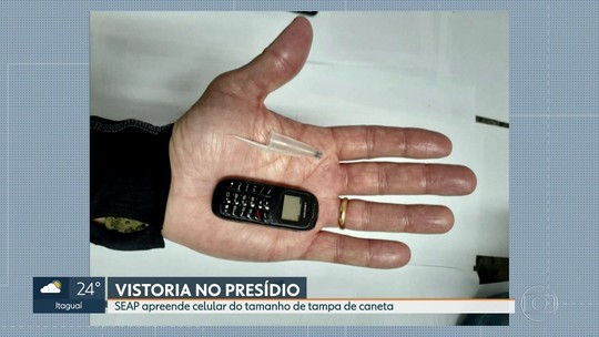 Celular do tamanho de tampa de caneta é apreendido em penitenciária na Baixada Fluminense