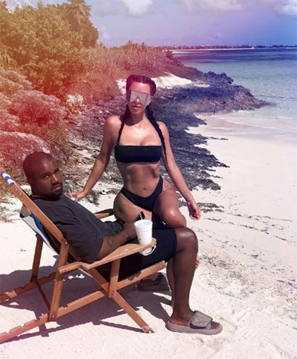 Kanye West e Kim Kardashian (Foto: Instagram)
