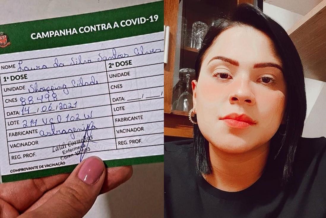 Psicóloga comemora vacina contra a Covid, mas descobre ao ver vídeo que imunizante não foi aplicado