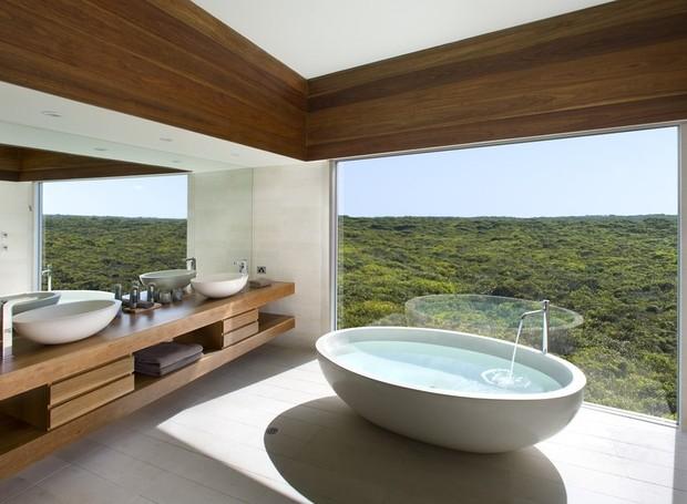 Banheiro do Southern Ocean Lodge (Foto: Reprodução/ Southern Ocean Lodge)