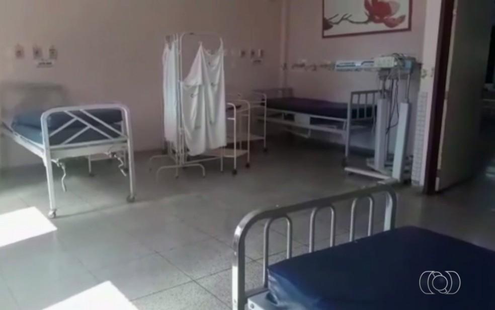 Grávidas em trabalho de parto deverão procurar outras unidades, em Goiânia (Foto: TV Anhanguera/Reprodução)