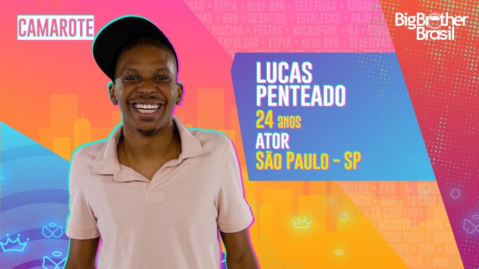 Lucas Penteado é participante do 'BBB21' — Foto: Divulgação/Globo