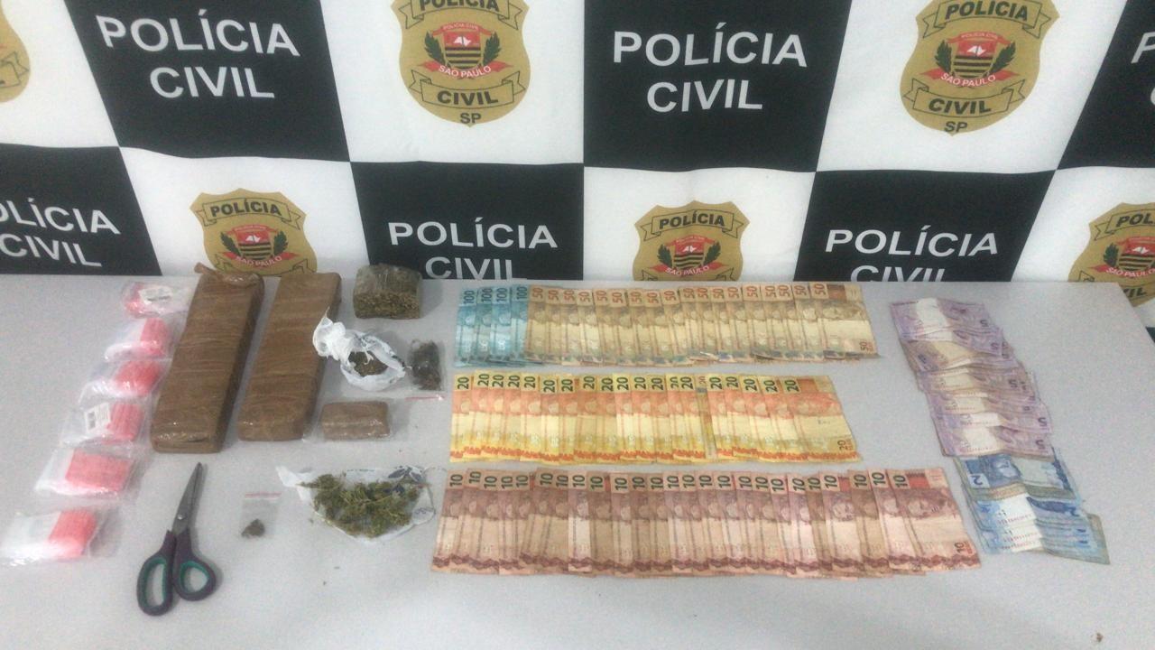 Polícia prende jovem com tijolos de maconha e R$ 2 mil em Jaú