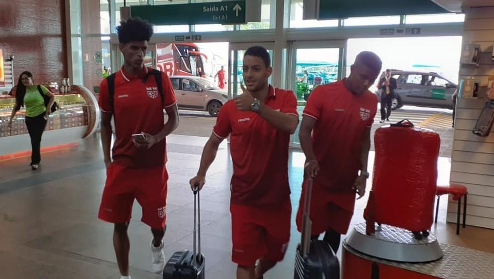 Ewerton Páscoa e Felipe Farias viajam para os duelos com o Coritiba e o Vila Nova — Foto: Mac Cavalcante/GloboEsporte.com
