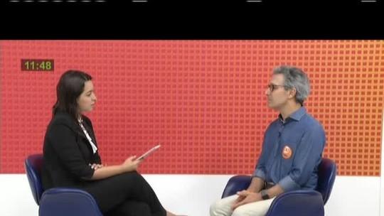 Candidato ao governo de Minas, Romeu Zema (Novo) participa de entrevista na Inter TV