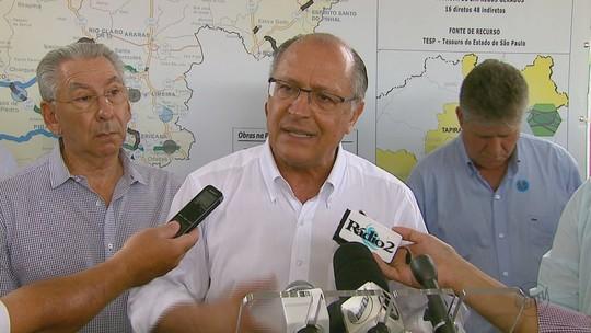 Geraldo Alckmin entrega obras de vicinal e anuncia AME de São Carlos para março