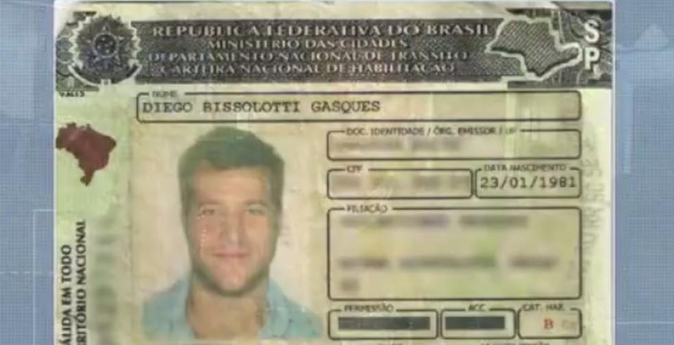 Diego Alemão foi preso em Curitiba após bater na traseira de um carro — Foto: Reprodução/RPC