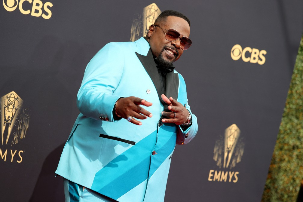 Cedric the Entertainer chega ao Emmy 2021 — Foto: Rich Fury/Getty Images North America/Getty Images via AFP