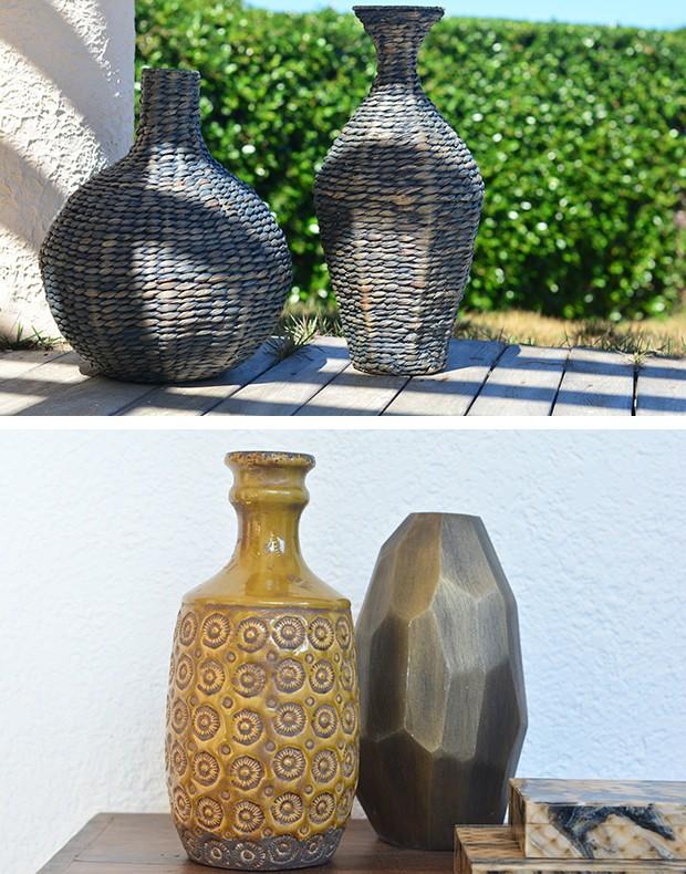 Composições com modelos parecidos ou diferentes de vasos criam efeito escultórico  (Foto: Divulgação)