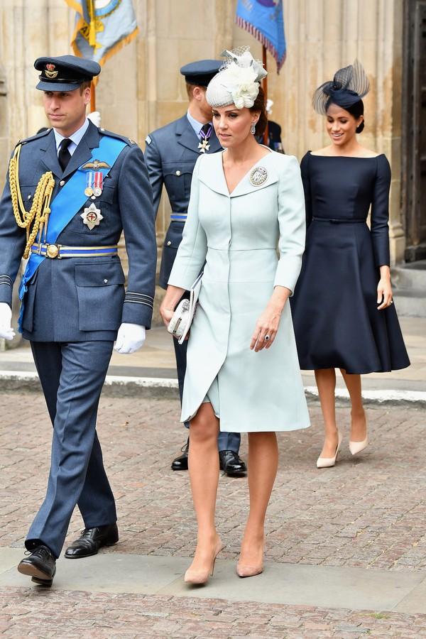 Príncipe William Kate Middleton na comemoração do centenário da Força Aérea Real britânica (Foto: Getty Images)