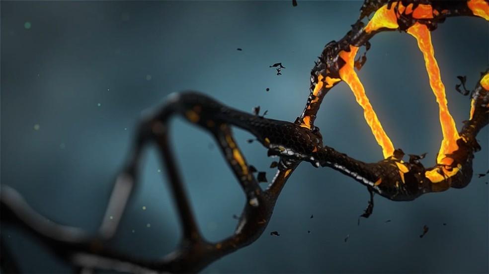 Simulação de molécula de DNA — Foto: Pixabay