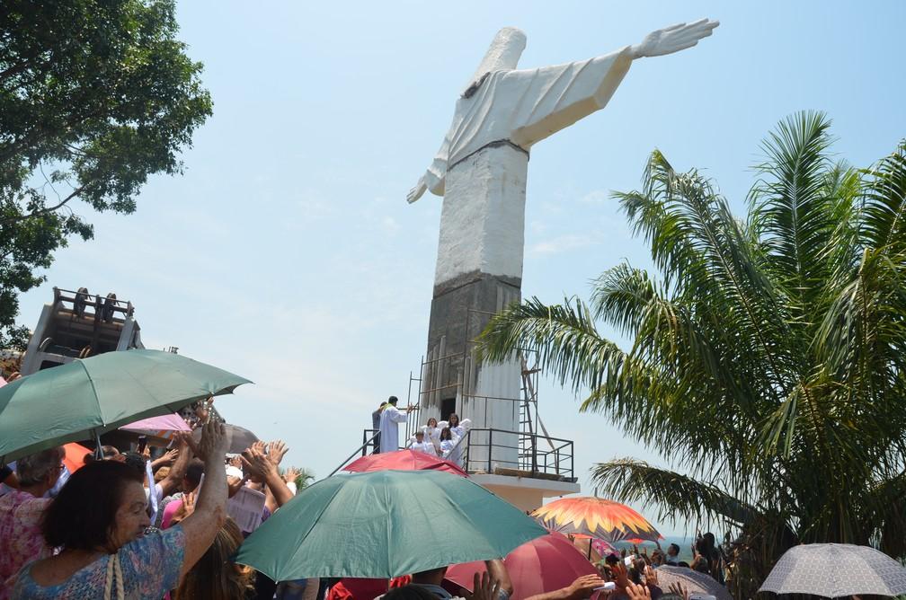 Missa de ianuguração da estátua do Cristo Redentor (Foto: Magda Oliveira/G1)