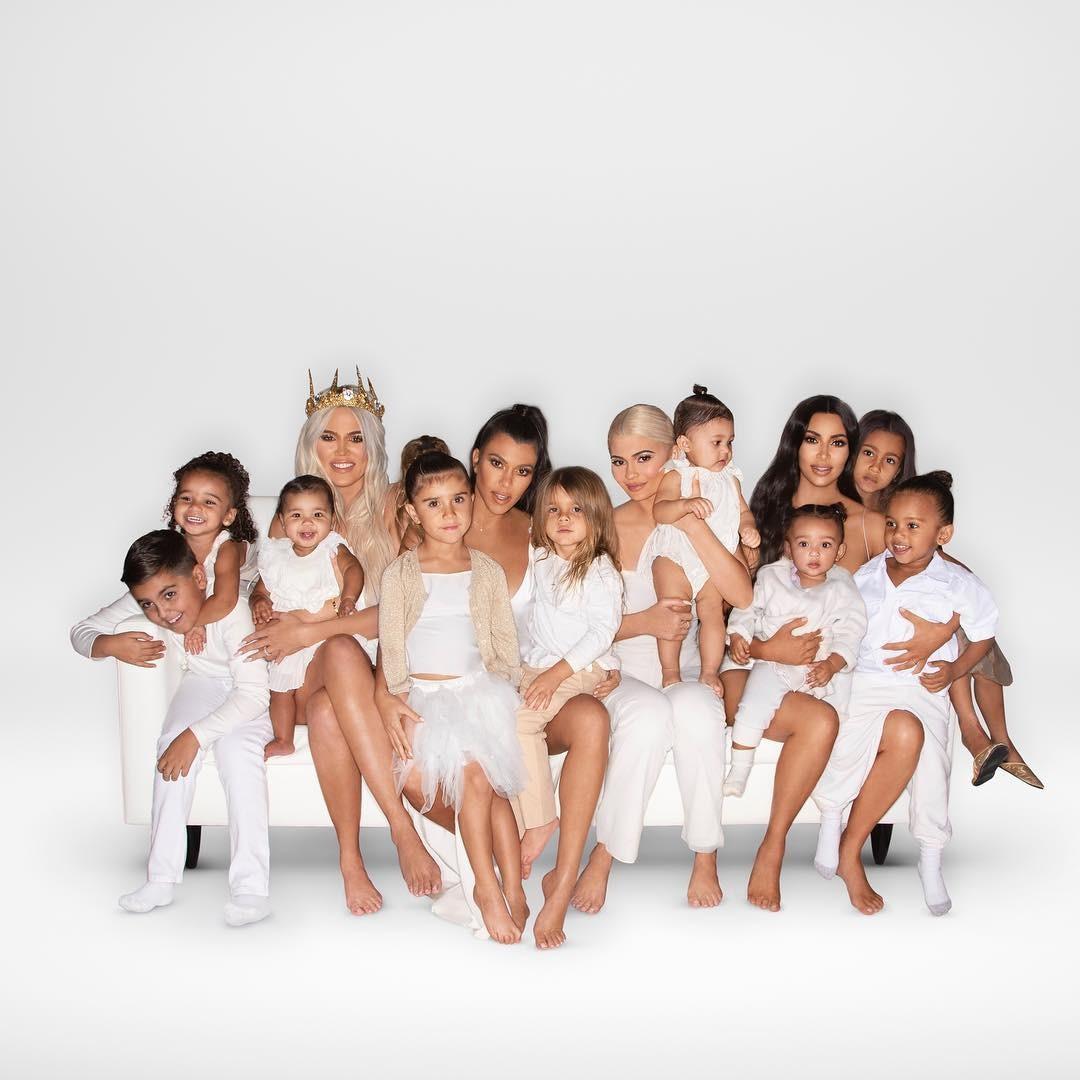 Kardashians com todos os filhos (Foto: Reprodução/Instagram)