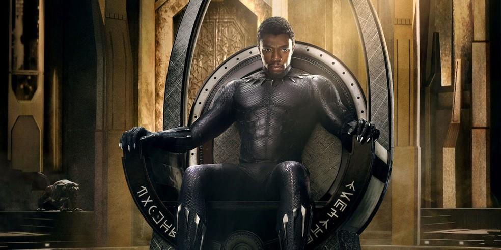 Pantera Negra foi um sucesso estrondoso, arrecadando US$ 1,3 bilhão nas bilheterias mundo afora — Foto: Divulgação