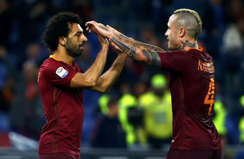 Salah se destacou pela Roma na temporada passada (Foto: REUTERS/Tony Gentile)