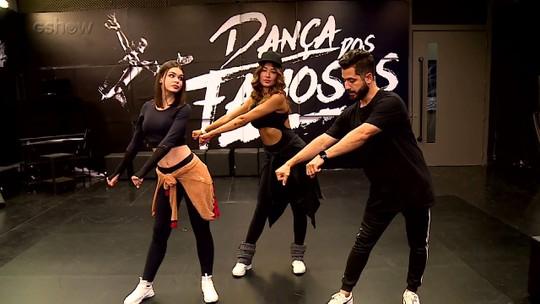 Bailarinas do Faustão têm aula de dança com Fabio Duarte